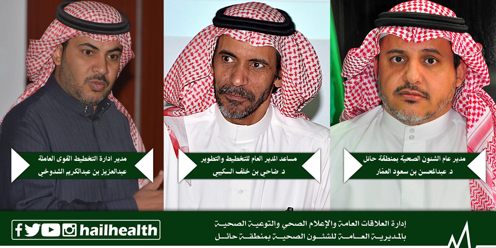 صحة حائل تستكمل حصر الملاك الوظيفي لمنسوبيها بنسبة 100 المديرية العامة للشؤون الصحية بحائل